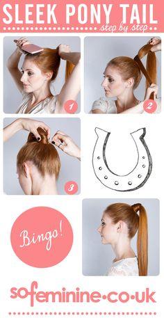 sleek ponytail tutorial
