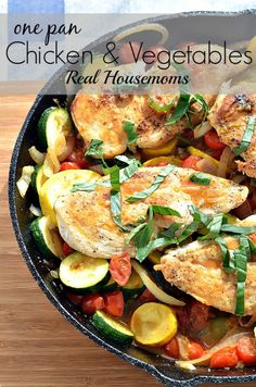 One pan chicken and vegetables is so easy and the flavor is out of the world. The vegetables get a deep depth of flavor cooking in the same pan as the chicken.