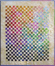 Glowing Nine Patch quilt pattern by Vicki Stratton