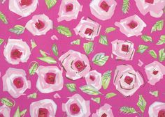 Love Roses Pink PWDF184  Dena Fishbein Designs  by MoonaFabrics, $9.95