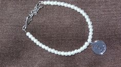 First Communion Bracelet with Charm Adjustable in by BrunosBling