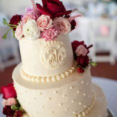 Ivory Swiss Dot Buttercream Cake