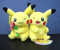 Pokemon Center Pikachu in Love Line Plushes. Someone find this for me online! So cute! :)