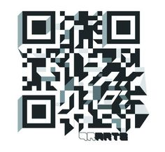Qubism. Looks like a labyrinth, but no worries, your QR code reader could decode it.