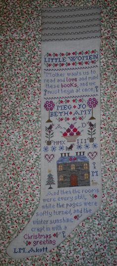 A Little Women Christmas Stocking di ShamrockCrossStitch su Etsy, €12.00