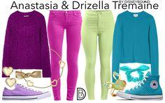 Disneybound: Anastasia and Drizella Tremaine Disney Bound Outfits, Disney Inspired Outfits, Disney Best Friends, Disney Love, Drizella Tremaine, Anastasia And Drizella, Cinderella Disney, Character Inspired Outfits, Disney Artwork