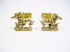 VINTAGE CUFF LINKS SARAH COVENTRY COWBOY CUFFLINKS FORMAL WEAR WESTERN STYLE #SarahCoventry