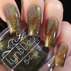 Golden Nails, Nail Polish, Glamour, Handmade, Beauty, Design, Gold Nails, Hand Made, Gold Nail