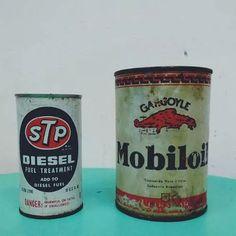 antiguas latas de aceite