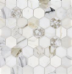 Calacatta Oro Polished Marble Hexagon Mosaics | Stone Concepts | Mandarin Stone