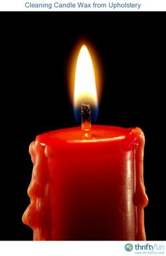 This is a guide about cleaning candle wax from upholstery. Removing candle wax from upholstery can be difficult, not only is there the actual wax residue, but there can also be an oily stain and sometimes dye.