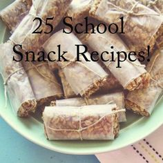 25 School Snack Recipes...A round-up of 25 healthy snacks for school and after school that your kids will lov http://pinterest.com/pin/28710516347604333/