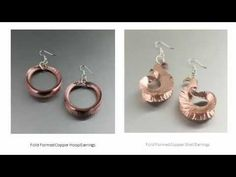 Copper Fold Formed Jewelry Collection by I Love Copper Jewelry - YouTube