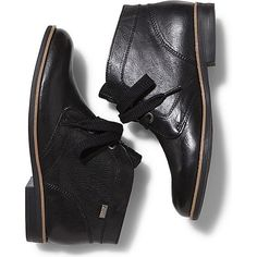 Keds Boyfriend Sahara ($60) ❤ liked on Polyvore featuring shoes, boots, ankle booties, black, black booties, black bootie, black boots, short boots and black ankle booties