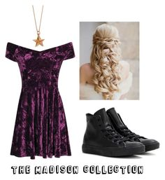 """Pretty in purple"" by maddy-adams on Polyvore featuring Converse, True Rocks, women's clothing, women's fashion, women, female, woman, misses and juniors"