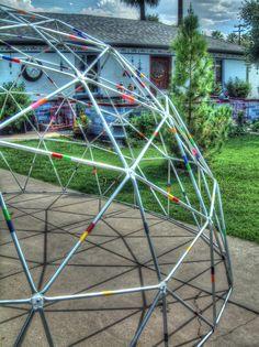 Steel tube geodesic.