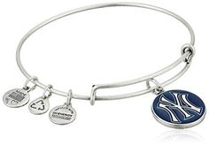 Alex and Ani New York Yankees Cap Logo Navy Expandable Rafaelian Silver Bangle Bracelet >>> Want to know more, click on the image.