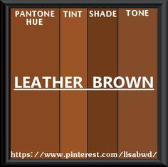 PANTONE SEASONAL COLOR SWATCH LEATHER BROWN
