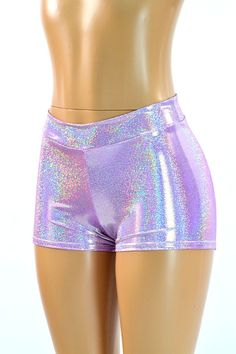 Midrise Lilac Purple Holographic Metallic by CoquetryClothing