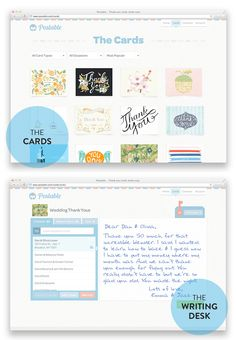 Postable's selection of super cute thank you cards designed by some of the best stationers out there!   Read more - http://www.stylemepretty.com/2013/09/28/postable-a-discount/