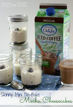 Skinny No-Bake Mocha Cheesecakes Check this out at http://porkrecipe.org/posts/Yum-Delicious-Pairings-Starbucks-Holiday-coffee-and-cinnamon-44434