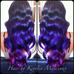 Violet and Wild Orchid Pravana Vivids. Hair by me!