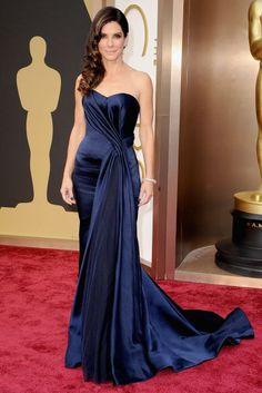 Sandra Bullock - beautiful color! Oscars Red Carpet- Best 2014 Red Carpet Dresses