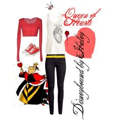 """""""Queen of Hearts Disneybound"""" by happyfeet44 on Polyvore"""