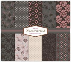 Scrapbook paper, no.26-Chloe, scrapbooking, card, 10 digital sheets 5401