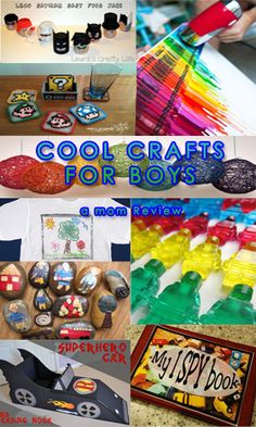 COOL THINGS TO DO WITH SONS (A MOM REVIEW)  Cool Boy related crafts - top 10