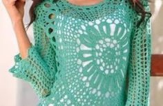 How to make a crochet blouse with graphic and video step by step