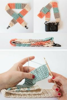 Learn to crochet a strap for your camera