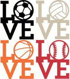 Silhouette Design Store - View Design #78742: sports love set