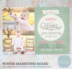 Photography Marketing Board Winter Mini von PaperLarkDesigns