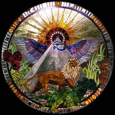 Amazing:  Majesty A Visionary Stained Glass Masterpiece by Heronglassstudio, $22000.00