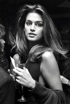 Cindy Crawford, 1988-iconic model that could be made up and stripped down  and still looked incredible. Class act.