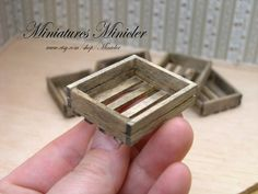 Miniature Dollhouse Wooden Crate
