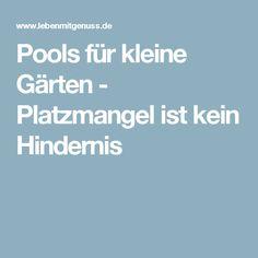 Pools für kleine Gärten - Platzmangel ist kein Hindernis