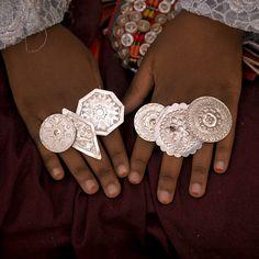 Girl showing her rings, Ghadames, Libya