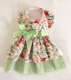 M-Minty-Roses-Dog-dress-clothes-pet-apparel-clothing-Medium-PC-Dog