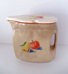 Vintage Harker #Pottery #Pitcher with Lid  by UrbanRenewalDesigns, $22.50
