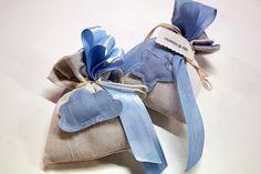 Sacchetti per #nascite #bambini con nastri.
