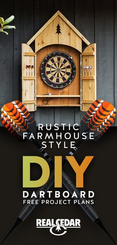 Build it! Check out our full free plans for this Farmhouse Style DIY Dartboard! A rustic and charming indoor/outdoor addition for your home or cottage.
