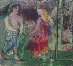 """ირაკლი ფარჯიანი """"ოდისეა"""" ქაღალდი, პასტელი, 30X35სმ. 1984 Irakli Parjiani """"Odyssey""""  Pastel on paper, 30X35cm. 1984"""
