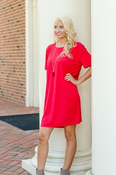 Piko Dress {American Red} $32 Authentic Piko 1988 dress.  Made of bamboo with a spandex blend.  http://shoppinkboutique.com/piko-dress-american-red/