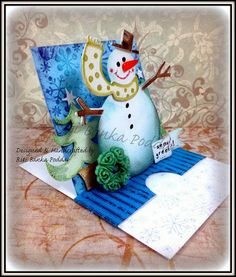 Crafters Corner : Happy Snowman on a Frosty Morning...Picture Heavy Tutorial Post !