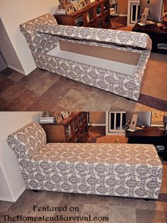 How To Build a Chaise Lounger with Hidden Storage from Wood Pallets – DIY Project