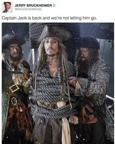 Johnny Depp is back as Captain Jack Sparrow in Pirates of the Caribbean: Dead Men Tell No Tales!