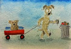 ACEO Original Watercolour for Charity Cairn Rescue.com Homeless Cairn Terrier | eBay