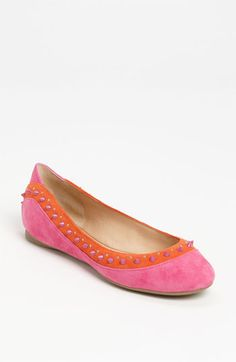 Pink and Orange makes me happy! Belle by Sigerson Morrison Alexis Flat | Nordstrom $239.95